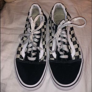 Black and checkered vans